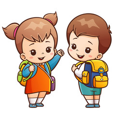 Going to school vector