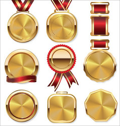 Golden medal collection vector