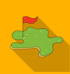 Golf course icon in flat style isolated on white vector
