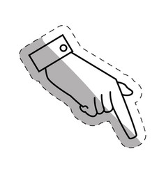 hand male expression signal vector image
