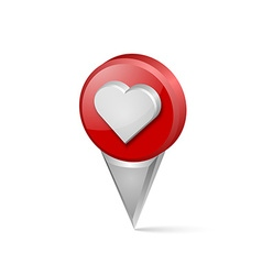 Heart pointer vector image vector image