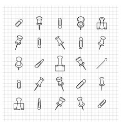 Icons clip of thin lines vector image vector image