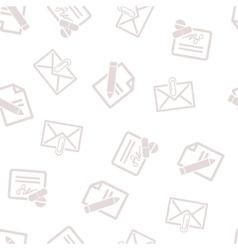 Medical correspondence seamless seamless flat vector