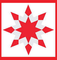 Red star - element for design for christmas vector