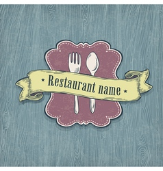 Restaurant design template vector