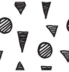 Seamless geometric doodle pattern vector