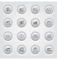 Shopping and Marketing Icons Set Button Design vector image vector image