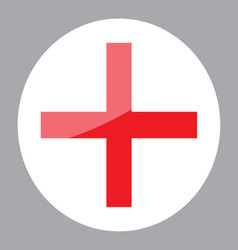 Sign red cross hospital clinic symbol vector image vector image