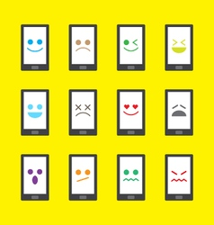 Smart phone emotion icon - emoji vector