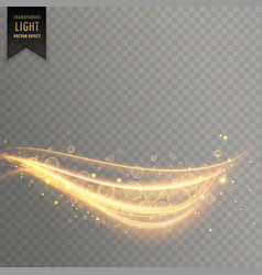 Stylish transparent light effect in curvy style vector