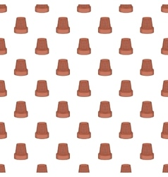 Thimble pattern cartoon style vector