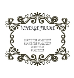 Vintage frame with scrolls and flourishes vector image vector image