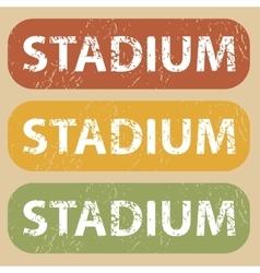 Vintage stadium stamp set vector