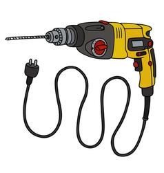 Yellow impact drill vector