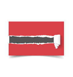 Realistic template business card hole in vector