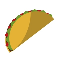Isolated mexican taco design vector image