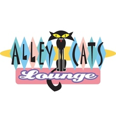 Alley cat logo vector