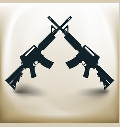 simple assault rifle vector image