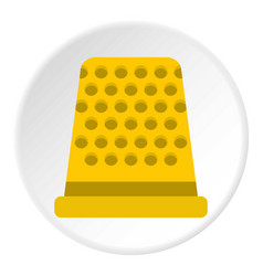 Thimble icon circle vector