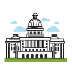 White house usa america travel landmarks and vector