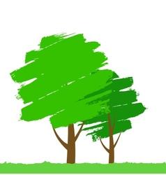 paint tree vector image