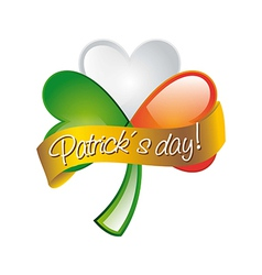 Patricks day with clover vector