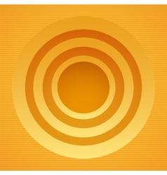 Round yellow banner vector