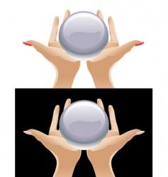 magic crystal vector image