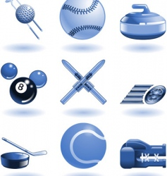 Shiny sports icon set series vector