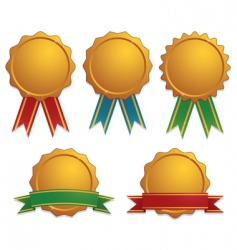 gold awards vector image