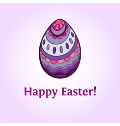 Ornamental easter egg vector