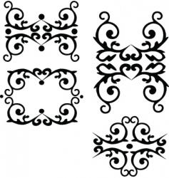 floral filigree elements vector image