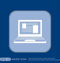 Notebook laptop icon vector
