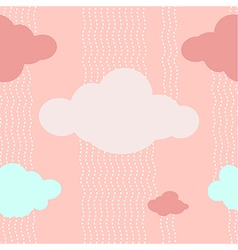 Pink clouds pattern background vector