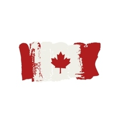 Canada flag painted by brush hand paints canadian vector