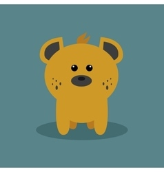 Cute cartoon hyena vector