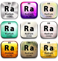 A button showing the element radium vector