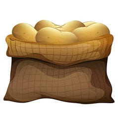 A sack of potatoes vector
