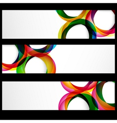 Abstract banner forms vector image vector image
