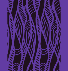 abstract geometric pattern with wavy line vector image