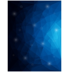 Abstract modern style polygon background vector