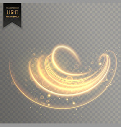 abstract swirl transparent light effect background vector image vector image