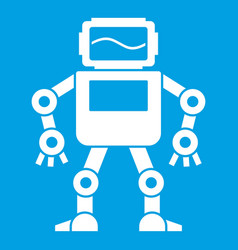Automatic mechanism icon white vector