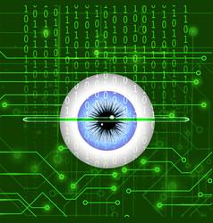 Biometric identification system for eye vector