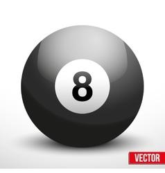 black ball sphere for billiards vector image