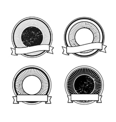 Blank badge icons vector image vector image