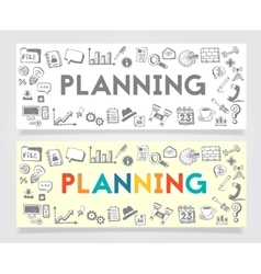 Business planning doodle concept vector