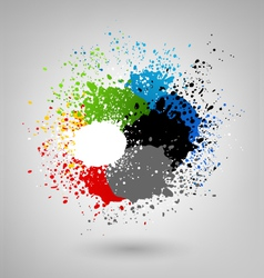 Color splashes vector