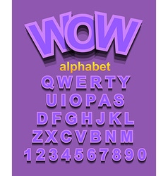 Colorful alphapet font to use for childrens vector