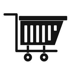 Empty plastic market trolley icon simple style vector
